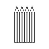 Figure pencils color icon. Illustraction design image Royalty Free Stock Photography