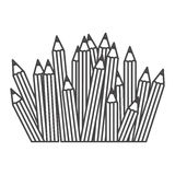 Figure pencils color icon. Illustraction design image Stock Photography