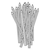 Figure pencils color icon. Illustraction design image Stock Photos
