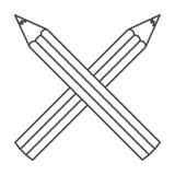 Figure pencils color icon Stock Photo