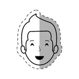 Figure people casual man face icon. Illustration Royalty Free Stock Photos