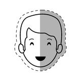 Figure people casual man face icon. Illustration Stock Image