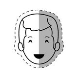 Figure people casual man face icon. Illustration Stock Photography