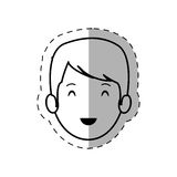 Figure people casual man face icon. Illustration Royalty Free Stock Photography