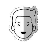 Figure people casual man face icon. Illustration Royalty Free Stock Image