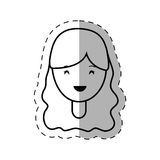 Figure people casual woman face icon. Illustration Stock Photo