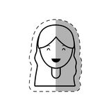 Figure people casual woman face icon. Illustration Stock Image