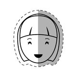 Figure people casual woman face icon. Illustration Royalty Free Stock Image