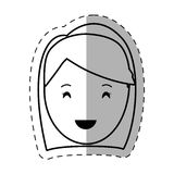 Figure people casual woman face icon. Illustration Royalty Free Stock Photos