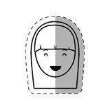 Figure people casual woman face icon. Illustration Stock Photos