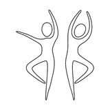 Figure people dancing together icon. Illustraction design Royalty Free Stock Images