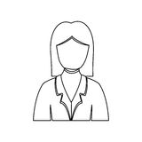 Figure people formal woman icon. Illustration image Royalty Free Stock Photos