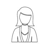 Figure people formal woman icon. Illustration image Stock Photography