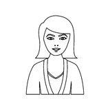 Figure people formal woman icon. Illustration image Stock Image