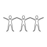 Figure people with hands up icon Stock Photos