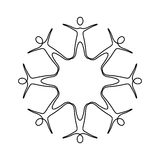 Figure people making a star with their legs. Illustraction design Stock Image