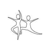 Figure people practicing dancing icon. Illustraction design Royalty Free Stock Photos