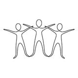 Figure people raise their hands. Illustraction design image Royalty Free Stock Images