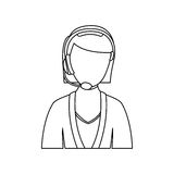 Figure people woman technological services icon. Figurepeople woman technological services icon,  illustration design Royalty Free Stock Images