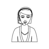 Figure people woman technological services icon. Figurepeople woman technological services icon,  illustration design Royalty Free Stock Photo