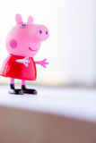 Figure of Pepa Pig from Astley Baker Davies / Entertainment One UK animations. Portugal - January 10, 2015 : Figure of Pepa Pig from Astley Baker Davies / Royalty Free Stock Image
