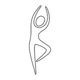 Figure person dancing icon. Illustraction design image Royalty Free Stock Photos