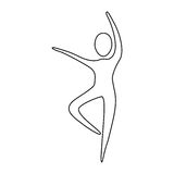 Figure person dancing icon Royalty Free Stock Images