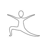 Figure person practicing dancing. Icon,  illustraction design image Stock Photography