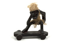 Figure of person on a skateboard Royalty Free Stock Image