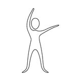 Figure person stretching icon. Illustraction design image Royalty Free Stock Photos