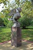 The figure of a Phoenix Bird in Sochi city Park. Sochi, RUSSIA-AUGUST 17, 2013: Bronze sculpture Phoenix Bird In the city Park stock photography
