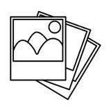 Figure pictures photos icon Stock Image