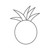 Figure pineapple fruit icon stock. Illustration design Stock Photos