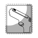 Figure pistol police icon image. Illustration Royalty Free Stock Photos