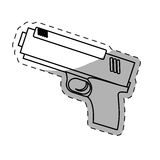 Figure pistol police icon image. Illustration Stock Photos