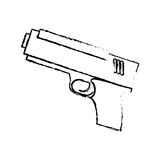 Figure pistol police icon image. Illustration Stock Image
