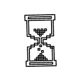 Figure pixel hourglass icon Stock Photography