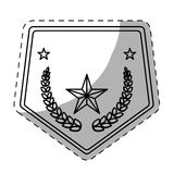 Figure police badge icon image Stock Photo