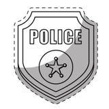 Figure police badge icon image Stock Photography