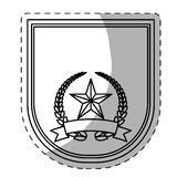 Figure police badge icon image Royalty Free Stock Photography