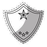 Figure police badge icon image Stock Image