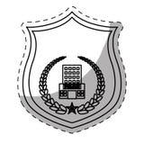 Figure police badge icon image Stock Photos
