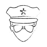 Figure police face icon image. Illustration Royalty Free Stock Photography