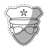 Figure police face icon image Royalty Free Stock Image