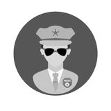 Figure police officer icon image Stock Photography