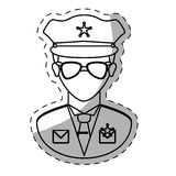 Figure police officer icon image Stock Image