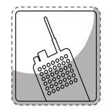 Figure police radio icon image Royalty Free Stock Image