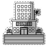 Figure police station icon image Royalty Free Stock Photos