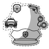 Figure police tools icon image. Illustration Stock Photos