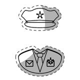 Figure police uniform icon image Royalty Free Stock Photography